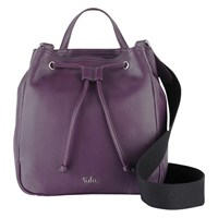 Tula Nappa Originals Medium Drawstring Bucket Bag Purple