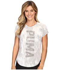 Puma Dancer Burnout Tee Light Gray Heather Women's T Shirt
