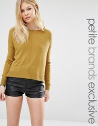 Noisy May Petite Cropped Jumper Olive Green