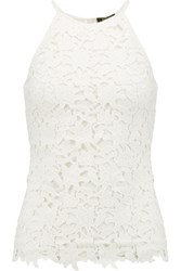 Raoul Corded Lace And Cotton Blend Jersey Tank White
