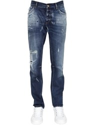 Dolce And Gabbana 17Cm Gold Fit Destroyed Denim Jeans