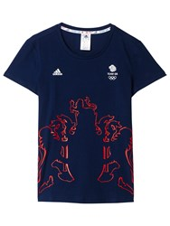 Adidas Team Gb Crest T Shirt Indigo Multi