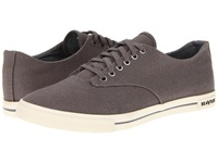 Seavees 08 63 Hermosa Plimsoll Core Tin Grey Vintage Wash Linen Men's Lace Up Casual Shoes Gray