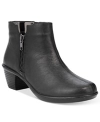 Easy Street Shoes Clear Booties Women's Black