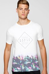 Boohoo Monica Faded Sublimation T Shirt White