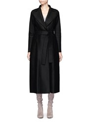 Harris Wharf London Belted Wool Duster Coat Black
