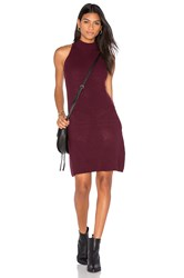 Bishop Young Scarlett Ribbed Sweater Dress Burgundy