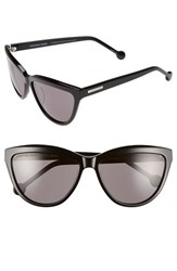 Women's Jonathan Adler 'Positano' 60Mm Cat Eye Sunglasses Black