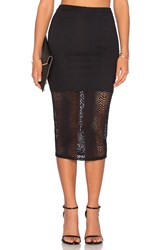 Twenty Boa Crochet Midi Skirt Black