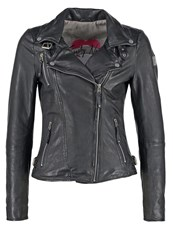 Freaky Nation Princess Leather Jacket Shadow Black