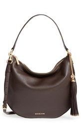 Michael Michael Kors 'Large Brooklyn' Convertible Leather Hobo Brown Coffee