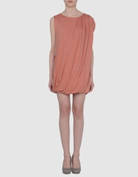 Misericordia Short Dresses Salmon Pink