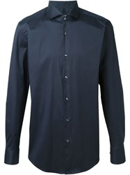 Boss Hugo Boss Classic Long Sleeved Shirt Blue