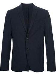 Valentino Two Button Suit Blue
