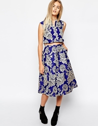 Sister Jane Golden Rose Midi Skirt Multi