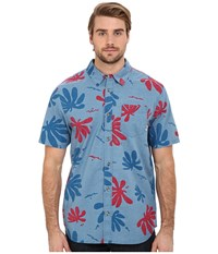 Vans Montauk Woven Blue Ashes Montauk Floral Men's Short Sleeve Button Up