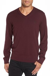Victorinox Swiss Armyr Men's Army 'Knifesmith' V Neck Sweater Langdon Purple