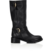 Fendi Women's Double Buckle Knee Boots Black Blue Black Blue