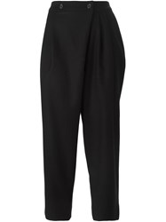 Marc By Marc Jacobs Tapered Cropped Trousers Black