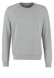 Pier One Sweatshirt Mid Grey Melange Mottled Grey