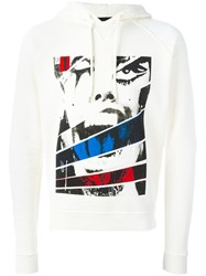 Dsquared2 Screaming Panel Hoodie White