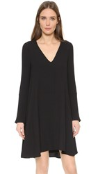 See By Chloe V Neck Long Sleeve Dress Black