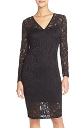 Women's Fraiche By J Lace Long Sleeve Body Con Dress