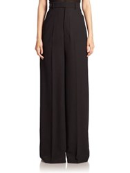 Rick Owens Astair Bell Wool Wide Leg Pants Black