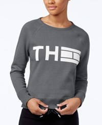 Tommy Hilfiger Logo Sweatshirt Only At Macy's Grey
