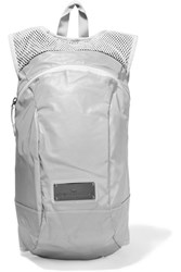 Adidas By Stella Mccartney Reflective Shell And Mesh Backpack Light Gray