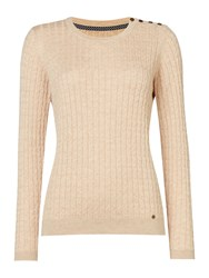 Dickins And Jones Claire Cable Knit Jumper Oatmeal Marl