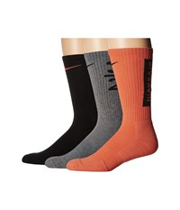 Nike Dri Fit Fly V4 Crew 3 Pack Multicolor 10 Crew Cut Socks Shoes