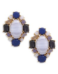Kate Spade Symphony Sparkle Statement Stud Earrings Blue