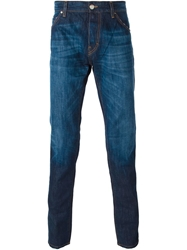 Les Hommes Washed Straight Fit Jeans