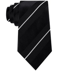 Sean John Men's Satin Stripe Tie Black