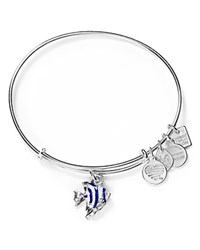 Alex And Ani Angel Fish Expandable Wire Bangle Shiny Silver