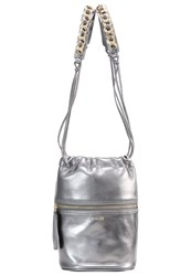 Pinko Arles Across Body Bag Grey Silver