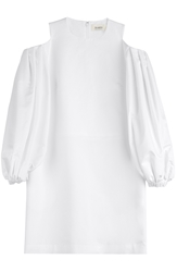 Isa Arfen Cotton Dress With Cut Out Shoulders