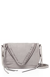She Lo 'Make Your Mark' Leather Crossbody Bag Grey Grey Perforated