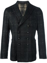 The Gigi Checked Double Breasted Coat Black
