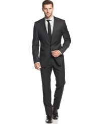 Boss Hugo Boss Charcoal Solid Slim Fit Suit