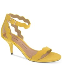 Chinese Laundry Rosie Two Piece Scalloped Dress Sandals Women's Shoes Yellow