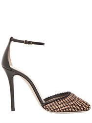 Giorgio Armani 105Mm Woven Leather Pumps