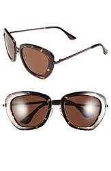 Women's Isaac Mizrahi New York 53Mm Retro Sunglasses Tortoise