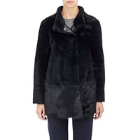 Barneys New York Shearling Jacket Black