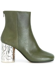 Maison Martin Margiela Round Toe Ankle Boots Green