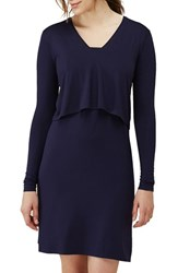 Isabella Oliver Women's 'Webber' Nursing Sheath Dress Darkest Navy