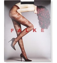 Falke Sunflower Patterned Tights 3009 Black