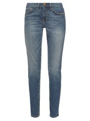 Current Elliott The Mamacita Mid Rise Straight Jeans Dark Denim