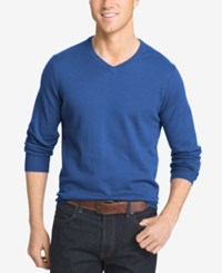 Izod Men's V Neck Sweater True Blue